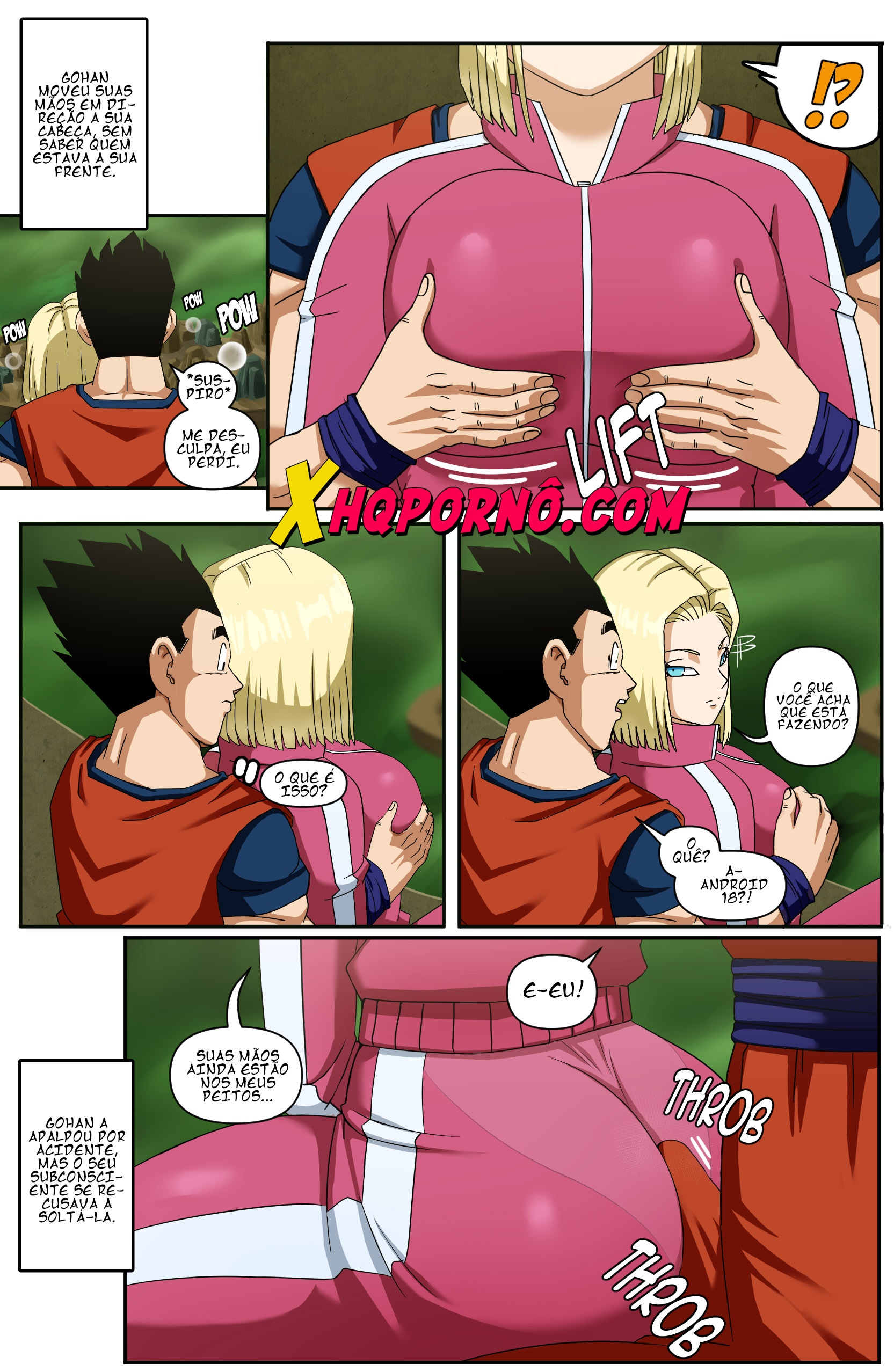 Android 18 and Gohan